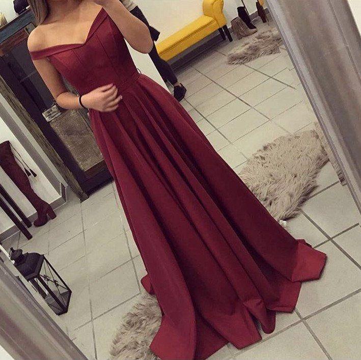 Off the Shoulder Prom Dresses Wedding Party Dresses Evening Dresses