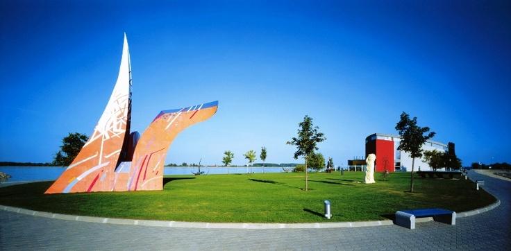 Outdoor sculpture exhibition in Danubiana Meulensteen Art Museeum near Bratislava.