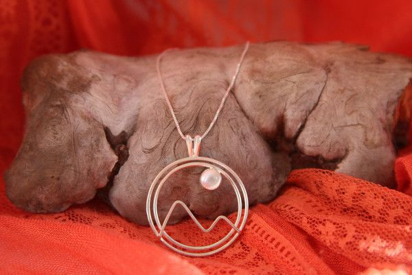 Moonstone Mountain Sterling Silver Necklace | WESTERN JEWELRY COLLECTION