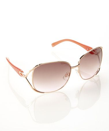 This Rose Gold & Pink Opulence Sunglasses by Jessica Simpson Collection is perfect! #zulilyfinds