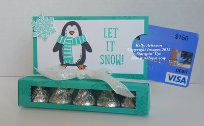 Snow Place Gift Card Holder + Kisses Box