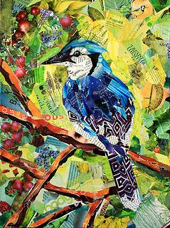 Bikes, Butterflies & Birds collages by artist Baye Hunter.