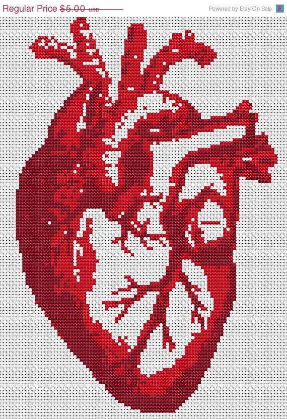 Cross Stitch PDF Pattern - Heart Beat