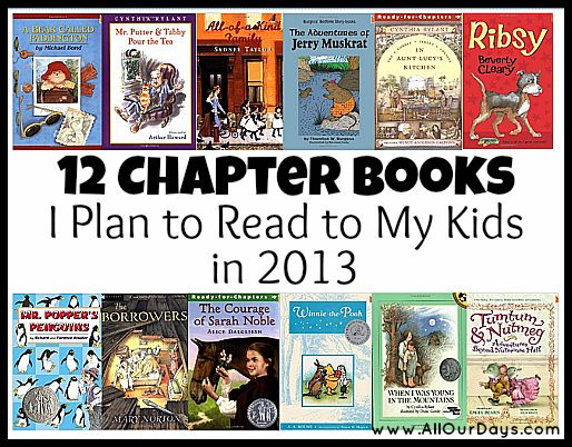 12 Chapter Books I Plan To Read To My Kids In 2012 Picks