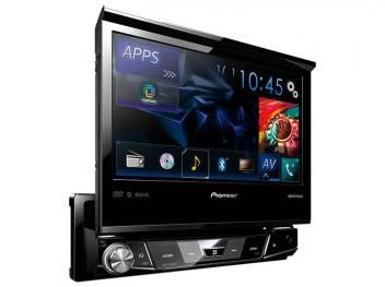 "DVD Automotivo Pioneer AVH-X7880TV Tela 7"" - TV Digital Bluetooth 3.0 Entrada USB"