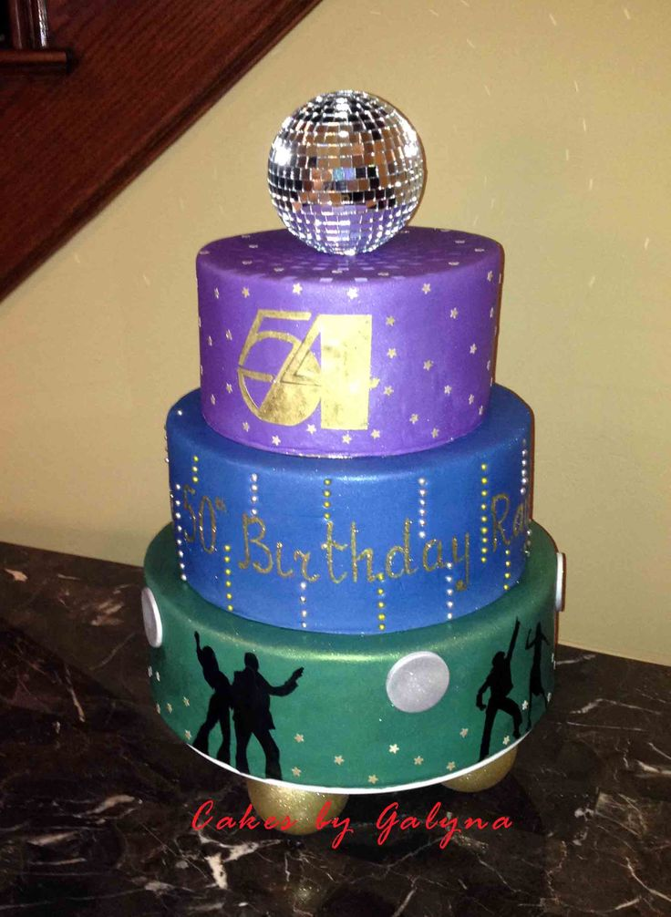 Studio 54 Disco Cake Cakes By Galyna Pinterest Happy