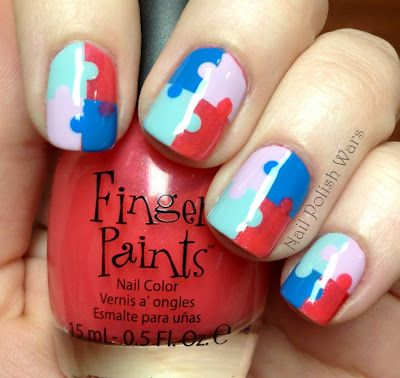 Puzzle nails! :D