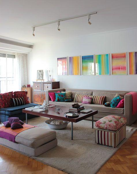 Me encanta el uso del color en esta casa en Argentina, en una nota de Casa Chaucha