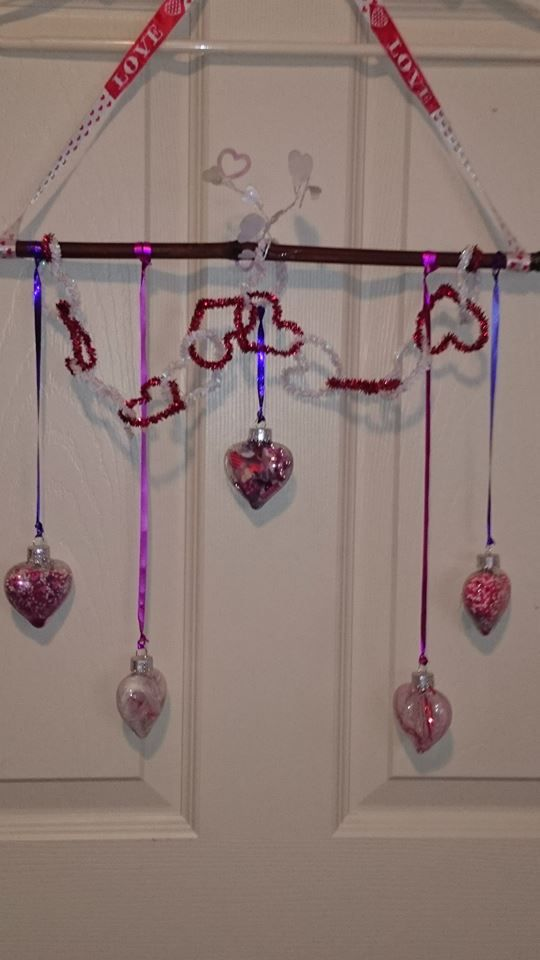 valentines window hanger