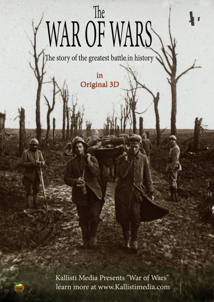 War of Wars : Somme-   2012 | USA | 13:00 | Dir. Jonathan Kitzen.  -On a bright sunny day in July the largest battle in the history of the world unfolded what would claim more lives in the first 15 minutes as the entire D-Day invasion and leave more than 1.5 million dead or wounded. The story is retold by current veterans, who relate their own experiences to the timeless experiences of battle. The film uses original 3D taken in 1916 and seen for the first time in almost 100 years.