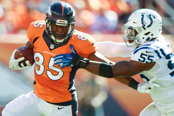 Broncos TE Virgil Green says he's playing vs. Chargers; team's thoughts on color rush jerseys - The Denver Post