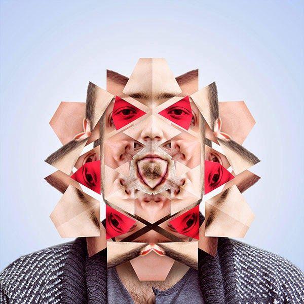 Designer Turns People's Faces Into Fascinating Kaleidoscopes - DesignTAXI.com