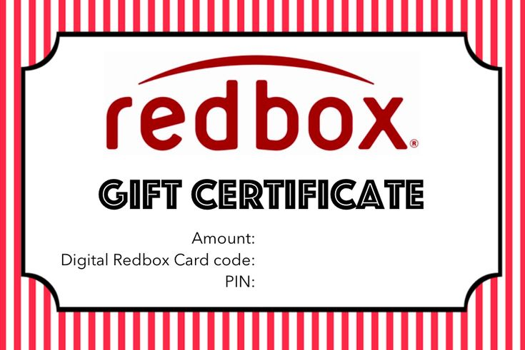 redbox printable template certificate basket appreciation gifts tags teacher printables certificates code present customer giving popcorn genius smithchavezlaw templates jessicaharlee