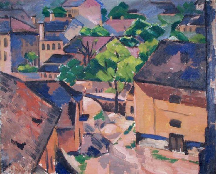 Z Malé Strany, 1914   Václav Špála   olej, plátno, 66 × 80 cm