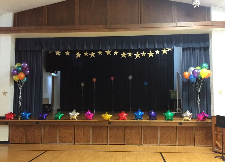 Best 25 talent show ideas on pinterest star student for Annual day stage decoration images