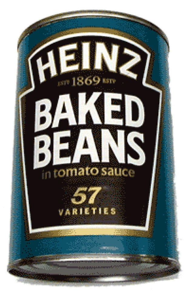 I really love Heinz baked beans.