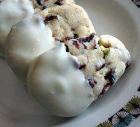 Joy's Thermomix Experiences - Recipe for cranberry pistachio shortbread