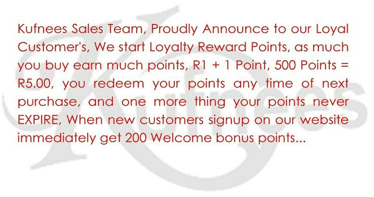 Loyalty points  Rewards