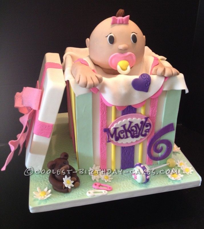 Baby Doll in a Box Cake ... This website is the Pinterest of birthday cakes
