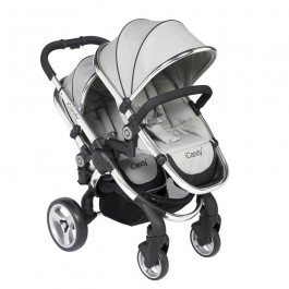 The iCandy Peach 2 Blossom is the twin version of the ever popular iCandy Peach 2. Offering outstanding flexibility the iCandy Peach 2 Blossom can be used for twins, a toddler and a newborn and will even convert back to a single Peach 2 Stroller. Combining sleek styling and practicality with stunning fabrics the iCandy Peach 2 Blossom caters for all.