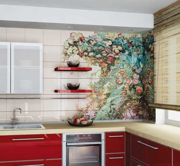 wall mural for kitchen design