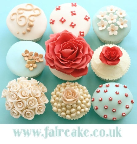 Pretty cupcake decorations