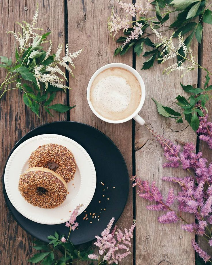 """simply-divine-creation: """" Justyna Niko """" #foodphotography #food #cappuccino #donuts"""
