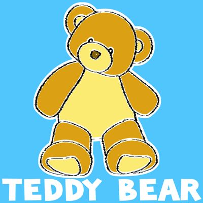 how to draw a teddy bear step by step easy