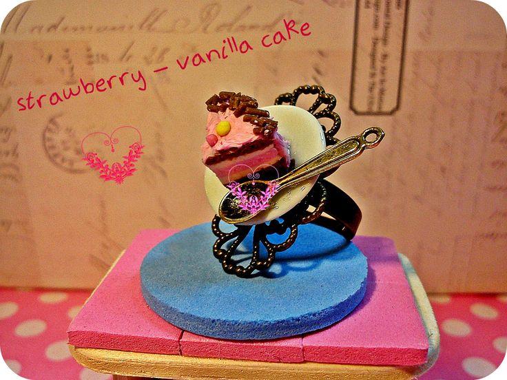 strawberry - vanilla cake !