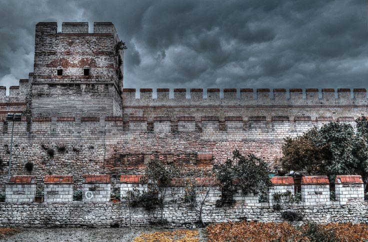 Byzantine walls by Murat Ekmen