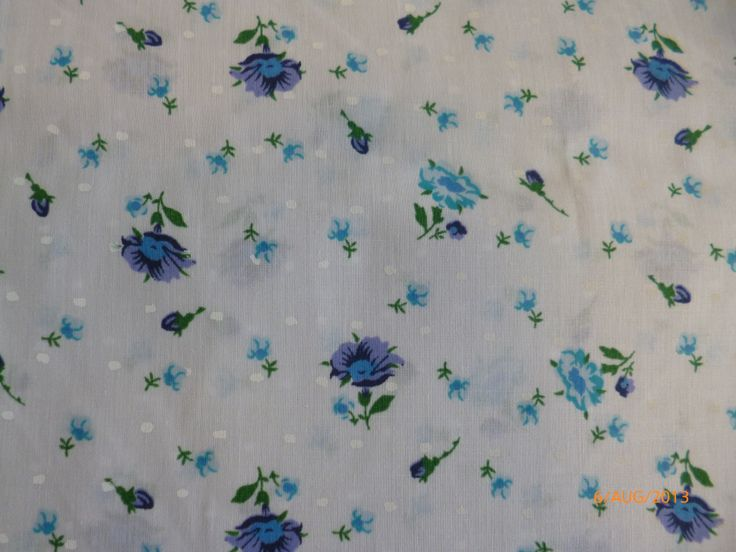Vintage Floral Blue - Polycotton