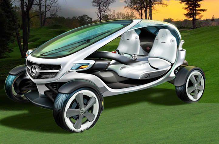Luxery Mercedes Benz mini vans | Conoce el carro de golf solar del futuro