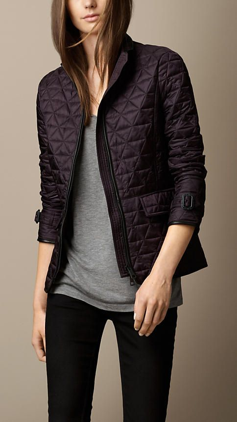 8 best Burberry images on Pinterest | Jackets, Burberry quilted ... : burberry quilted check trim coat - Adamdwight.com