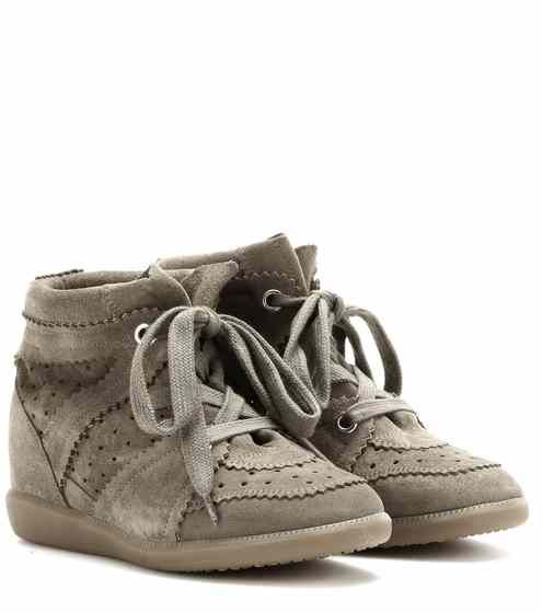 Étoile Bobby concealed wedge suede sneakers | Isabel Marant