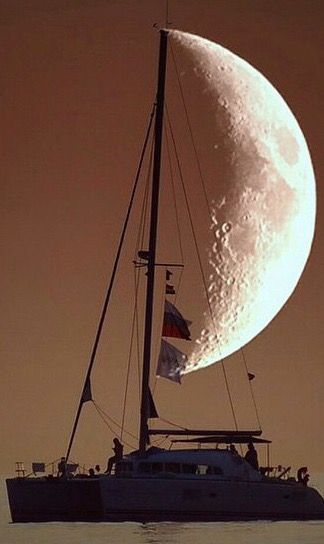 A moon for a sail...