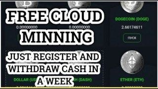 Free Cloud Mining Bitcoin,Ether,Doge,Litecoin,Ripple Free
