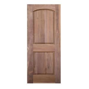 6 panel interior doors home depot 36 in x 80 in x 1 3 8 in walnut 2 panel top rail arch 26337