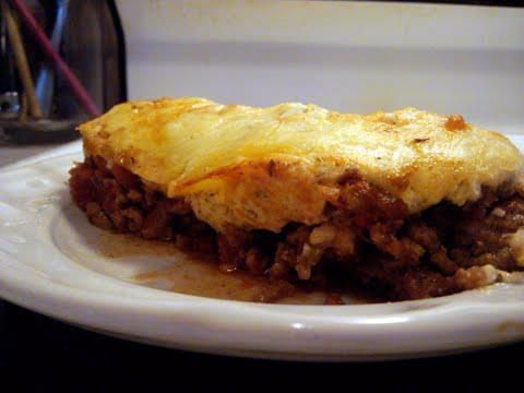 "Meat Lasagna Slightly adapted from George Stella ""Livin' Low Carb"" Ingredients: 10"