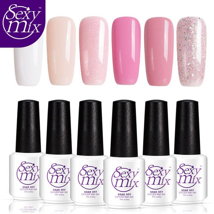 Sexy Pink mix Color de la Serie UV Pulimento Del Gel Del Clavo de DIY Del Arte Del Clavo Empapa de UV Led Gel Profesional UV Laca de Uñas de Gel de Larga Duración