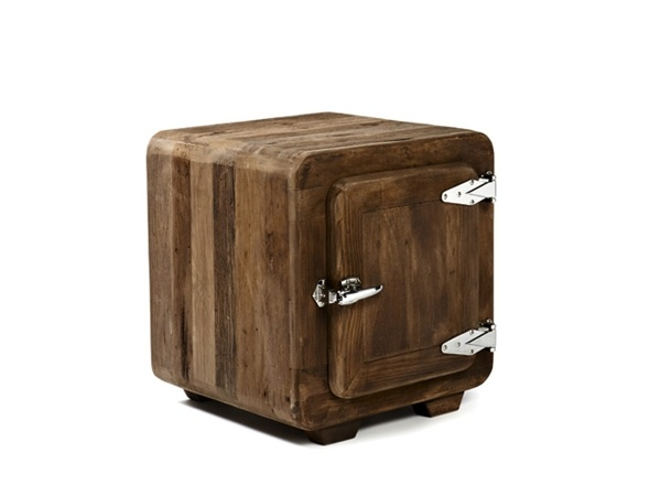 Ice Box Side Table - always a talking point - customers can't resist opening up