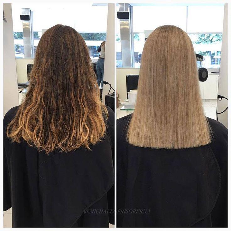 Så snyggt! Med väldigt täta slingor får kunden en helblond känsla utan att behöva bleka hela håret ✨ #blonde #beigeblonde #highlights