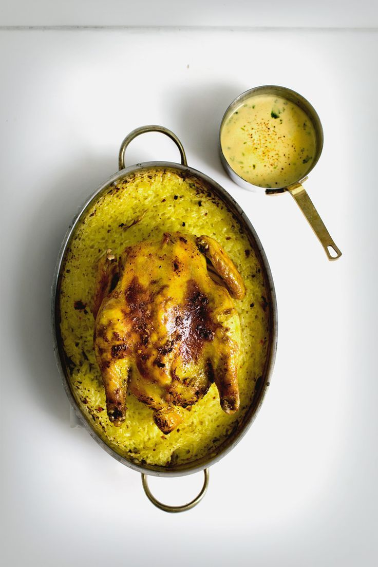 turmeric butter chicken and lemongrass coconut rice.