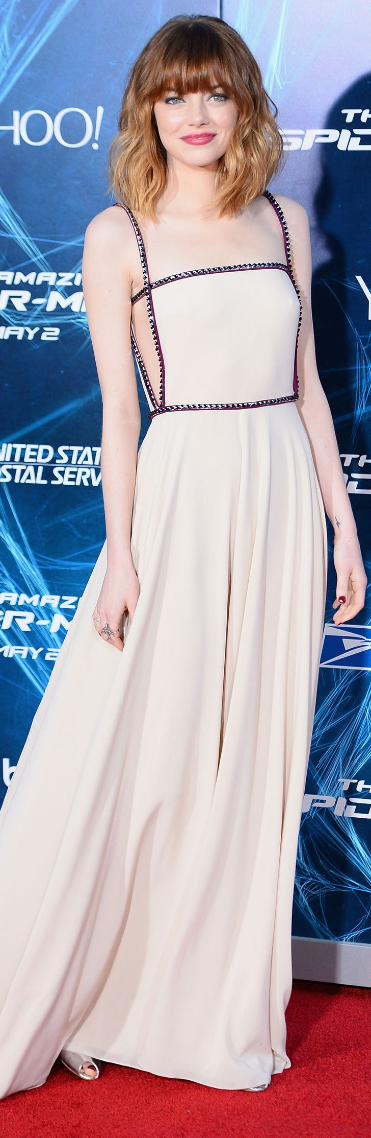 A hint of skin on the side was as good a surprise as any at Emma Stone's New York premiere.