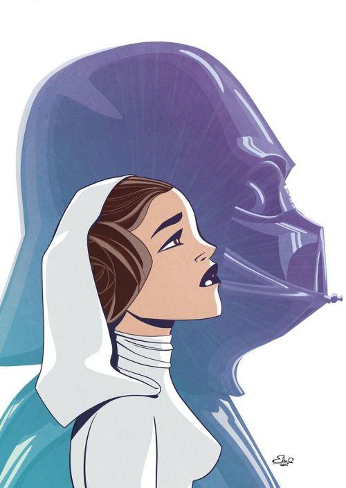 Princess Leia & Darth Vader - Star Wars - Elsa Charretier