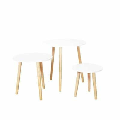 Table gigogne Scandinave X3 Blanche - Achat / Vente table gigogne Table gigogne Scandinave X3 - Cdiscount