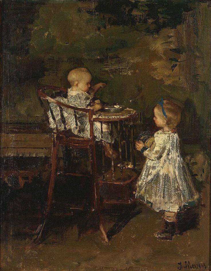 JACOB HENRICUS MARIS DUTCH, 1837-1899 THE TWO LITTLE SISTERS