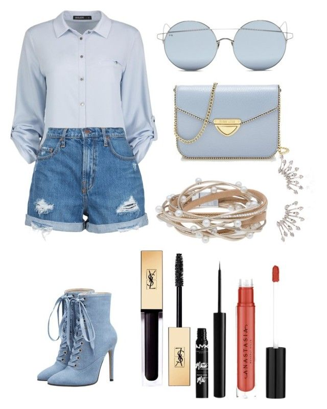 """""""Light day in the sun"""" by utkonos on Polyvore featuring Nobody Denim, For Art's Sake, Saint Tropez, Eloquii, Yves Saint Laurent and NYX"""