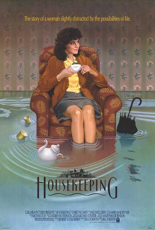 Housekeeping.  Housekeeping, stars Christine Lahti. A wonderful film, about people that are on the fringe of conventional society. The eccentric Christine Lahti character cannot conform to what we would call normal.