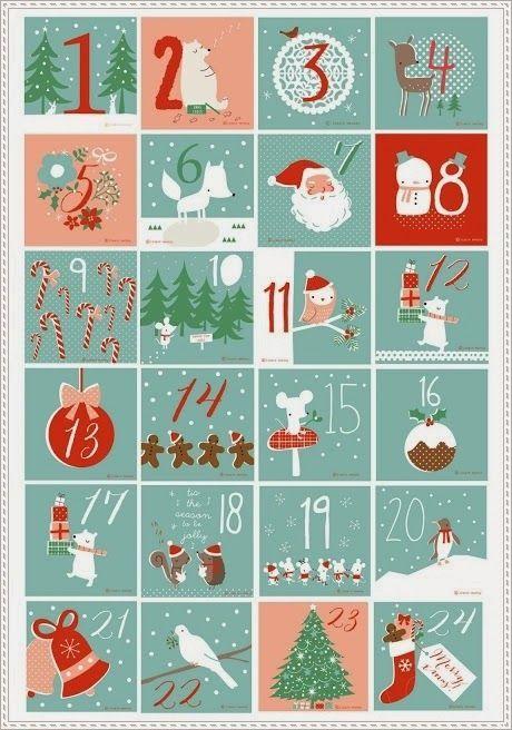 Polar Bear: [DIY Noël] Inspirations #1 : des etiquettes, calendriers de l'avent et illustrations à imprimer ♡: