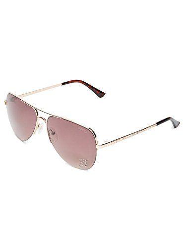 14a1dacc373 Factory Women s Sparkle Metal Aviator Sunglasses